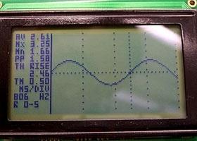 Oscilloscopio con PIC18F2550 y LCD KS0108
