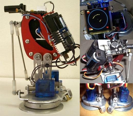 Video robot pinguino con propeller y pantalla oled