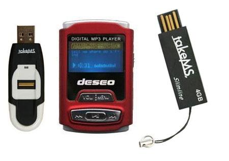 Memorias USB, Micro SD y Reproductores MP3 - MP4
