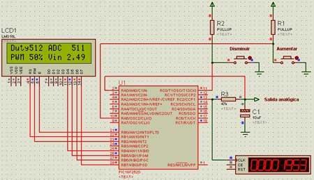Como hacer una salida analógica en un microcontrolador PIC