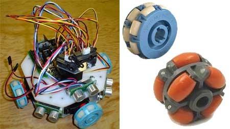 (Video) Fuzzy: Robot casero con ruedas multidireccionales