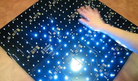 Panel interactivo analógico con diodos LED