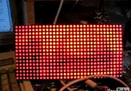 Matriz de LED con control de intensidad por PWM