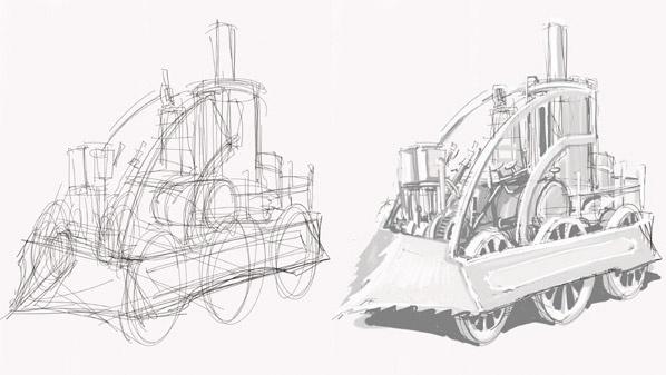 Aprende a dibujar máquinas