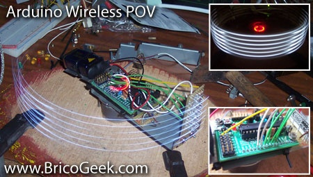 (Video DIY) BricoGeek Arduino Wireless POV (Parte 1)