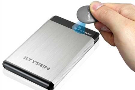 Stysen E8: Disco duro protegido por RFID