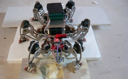 (Video) Robot hexapod returns: CNC Routing