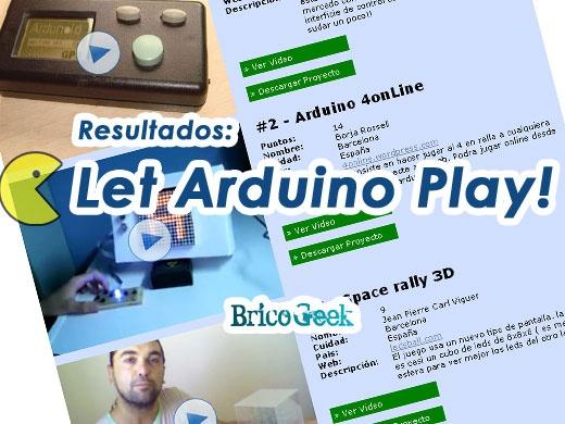 Resultados del concurso Let Arduino Play